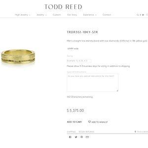 Todd Reed Men's Ring RAW DIAMOND in 18K GOLD